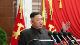 El líder norcoreano Kim Jong Un, el 29 de junio de 2021 en Pyongyang