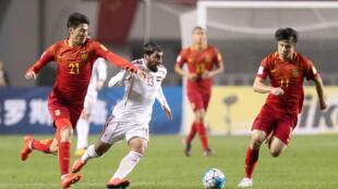 Đội tuyển Trung Quốc và Syria trong trận đấu vòng loại Cúp Bóng đá Thế giới 2018, Tây An, Trung Quốc ngày 06/10/2016.