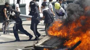 Chile: manifestaciones en Valparaíso, el 29 de septiembre de 2011.