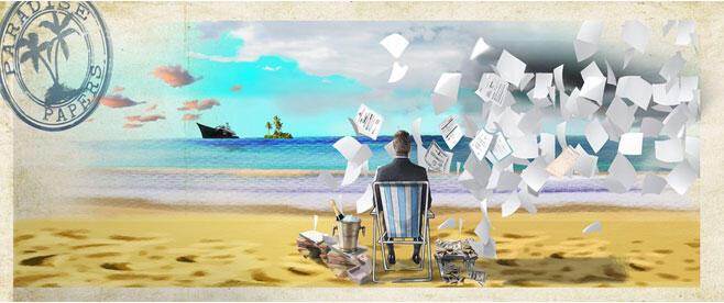Consortium international des journalistes d'investigation (ICIJ), illustration des «Paradise Papers» (Capture d'écran).