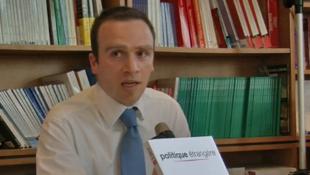 Marc Hecker, le 28 juin 2012, à la librairrie de la Documentation française.