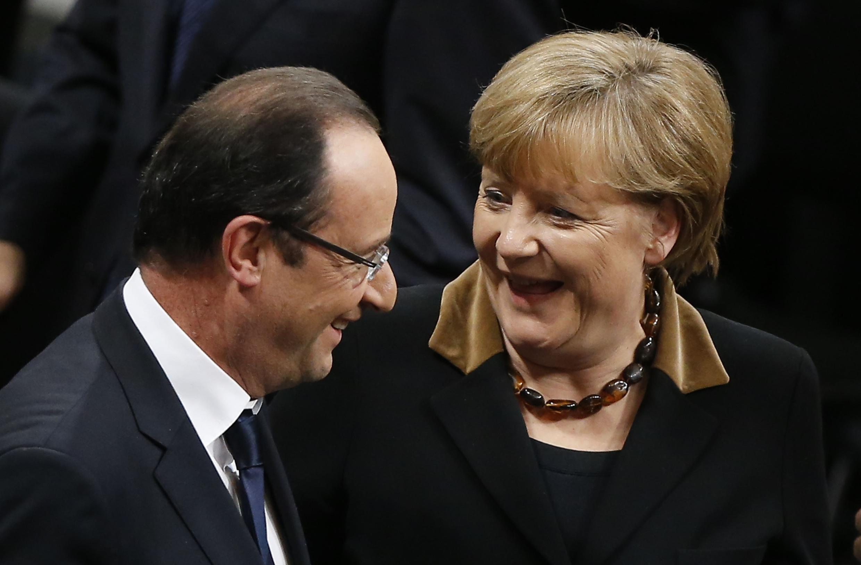 Angela Merkel and François Hollande in Berlin last week