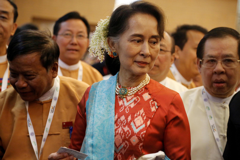 Aung San Suu Kyi, le 28 janvier 2019.