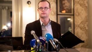 Le directeur et co-fondateur de l'ONG SOS Chrétiens d'Orient, Benjamin Blanchard, à Paris le 24 janvier 2020.