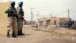 Des casques bleus en patrouille à Kidal, en juillet 2013.
