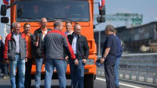 Владимир Путин на открытии Керченского моста