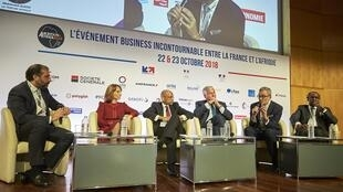 Alexandre Maymat, the head of French bank Société Générale's Africa and MENA division discusses new opportunities with the continent at the Paris Ambition Africa conference, Monday 22 October, Paris