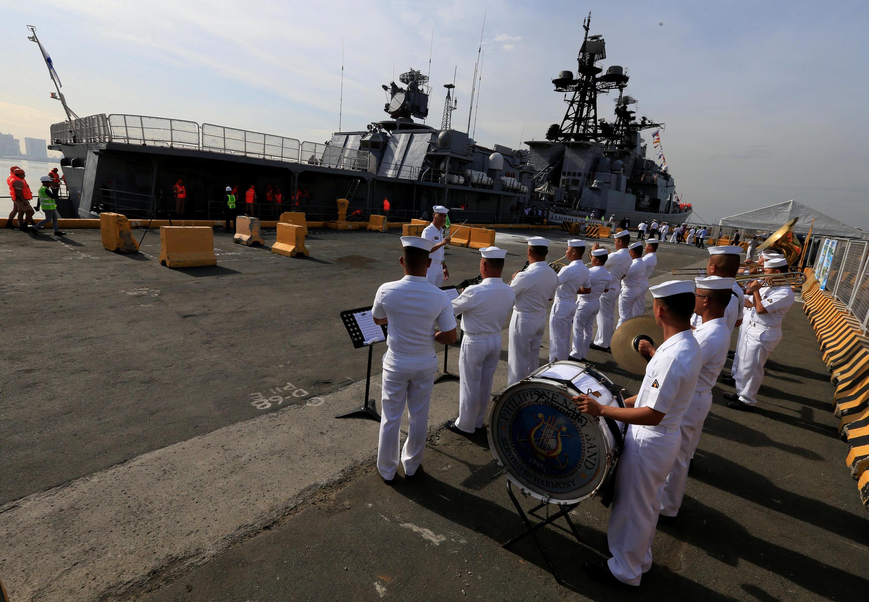 Chiến hạm Nga ghé thăm Philippines. Ảnh ngày 03/01/2017.