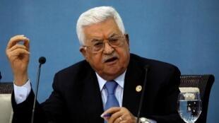 Le président de l'Autorité palestinienne, Mahmoud Abbas, lors d'une conférence de presse dimanche 23 juin a contesté le plan américain pour le Proche-Orient.