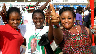 One touch! NDC supporters at rally in Accra ahead of elections
