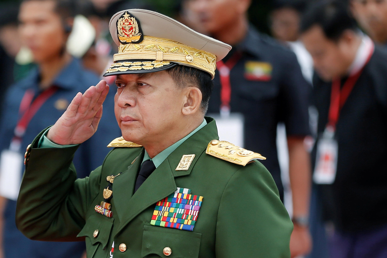(Ảnh minh họa) - Tướng Min Aung Hlaing,Tư lệnh liên quân Miến Điện. Ảnh chụp ngày 19/07/2018 tại Yangon.
