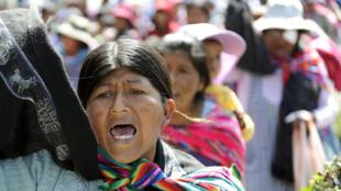 Les manifestants vont continuer de réclamer justice après la mort de deux des leurs le 29 août, alors qu'ils s'opposaient à l'arrachage de leurs plants de coca par l'armée bolivienne.