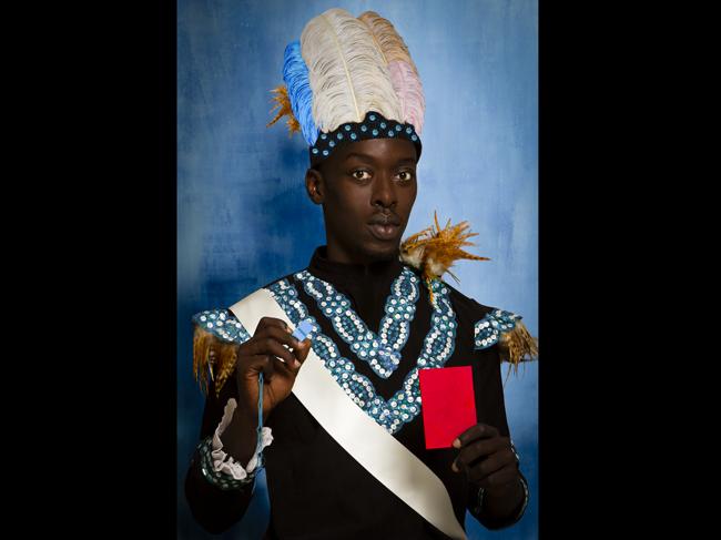 Albert Badin (détail), oeuvre d'Omar Victor Diop, exposée du 13 au 16 novembre à Paris Photo sur le stand de la galerie Magnin-A.