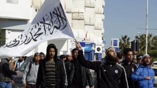 Maandamano ya wafuasi wa Salafiste wakidai mfumo wa sheria nchini Tunisia