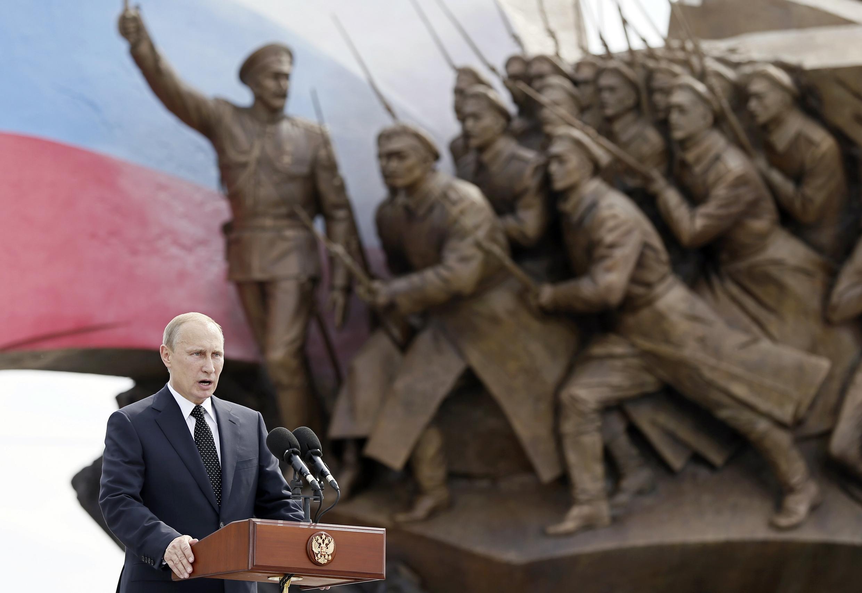 Vladimir Putin, nas celebrações russas dos 100 anos da Primeira Guerra Mundial
