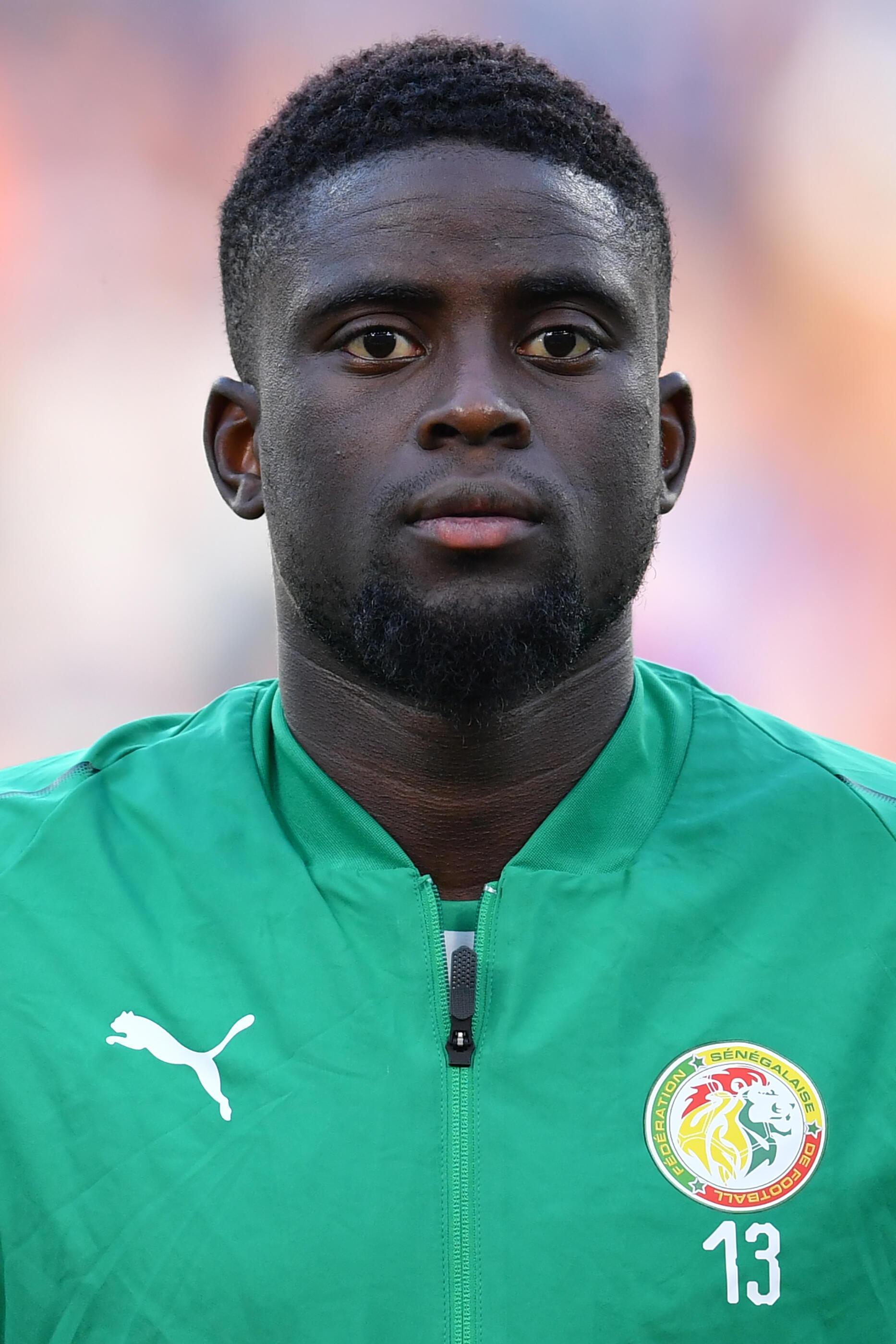 Le Sénégalais Alfred Ndiaye avant d'affronter le Japon, en Coupe du monde 2018.