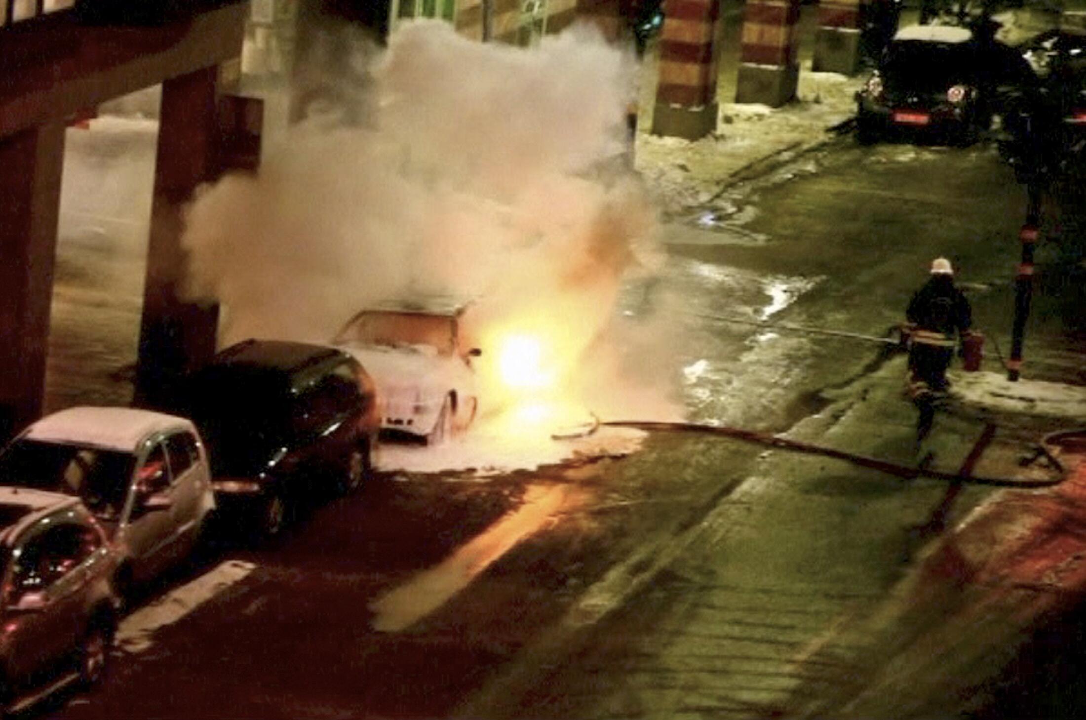 The blast in the Swedish capital's city centre