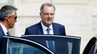 Le ministre Richard Ferrand après le conseil des ministres du mercredi 31 mai.