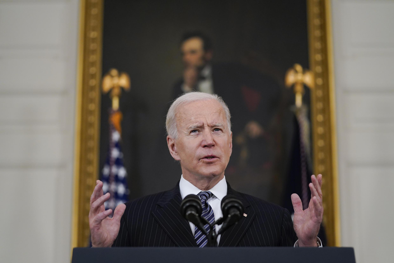 Image d'archive RFI : le président américain Joe Biden Biden à la Maison Blanche, le 6 avril 2021.