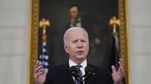 Rais wa Marekani Joe Biden Biden katika ikulu ya White House, Aprili 6, 2021.