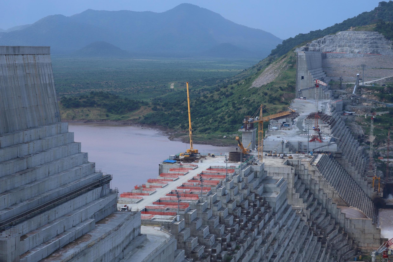 Le barrage de la Renaissance sur le Nil en Éthiopie, le 26 septembre 2019.