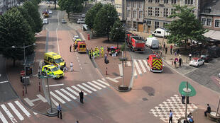 Центр Льежа (Бельгия), где произошла перестрелка неизвестного с полицией. 29 мая 2018 г.