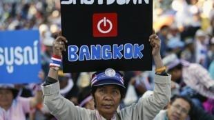 """Phe chống chính phủ đe dọa """"phong tỏa"""" Bangkok : Lượng du khách tháng 12/2013 sút giảm - REUTERS /Athit Perawongmetha"""