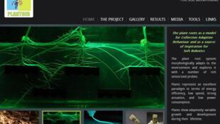 Le projet Plantoid expérimente des prototypes de racines robot. (Photo: capture d'écran du site du projet Plantoid).