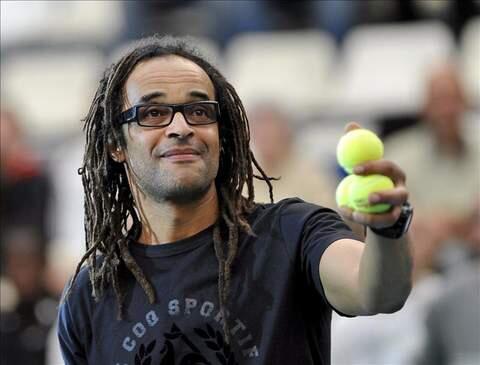 El ex tenista francés Yannick Noah, vencedor del Roland Garros en 1983.