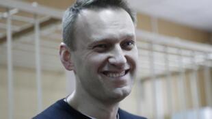 Алексей Навальный в Тверском районном суде города Москвы, 27 марта 2017.