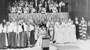 Cerimônia de coroação de Elizabeth II em 6 de fevereiro de 1952