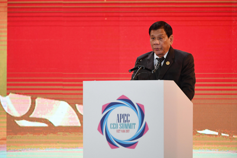 菲律賓總統9月11日在亞太經合會議講話