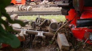 Le train de la Camrail a déraillé le 21 octobre 2016, au niveau d'Eseka.