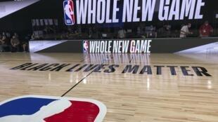 Un terrain de basket du complexe sportif ESPN Wide World of Sports, à Disney World en Floride, le 21 juillet 2020.