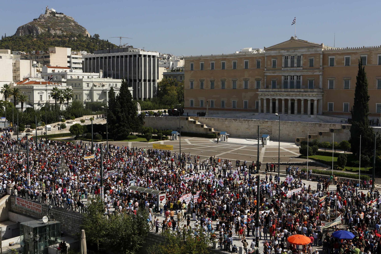 24-часовая забастовка в Греции 26/09/2012