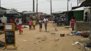 Quartier de la commune d'Abobo, en Côte d'Ivoire.