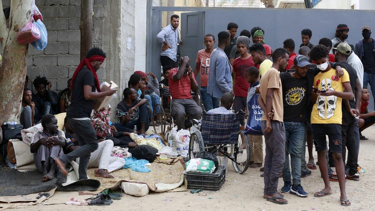 PHOTO Migrants à Tripoli - 9 octobre 2021