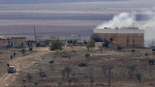 Combates en tierra entre combatientes kurdos y yihadistas del grupo Estado Islámico en Kobane, el 23 de noviembre.