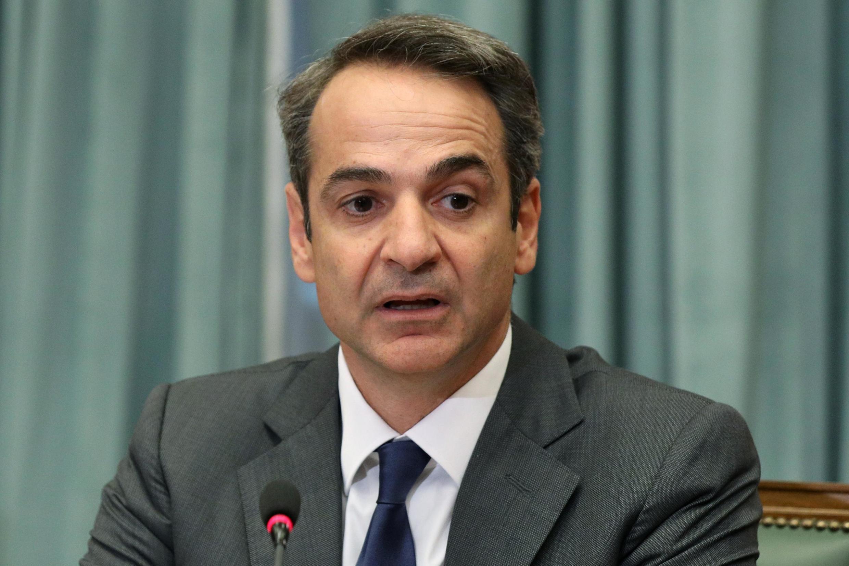 Le Premier ministre grec Kyriakos Mitsotakis lors de la première réunion avec le nouveau gouvernement, le 10 juillet 2019 à Athènes.