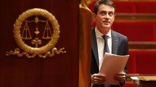 El primer ministro Valls en la Asamblea Nacional, París, 5 de febrero de 2016.