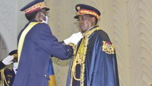 Shugaban kasar Chadi Idris Deby bayan karrama shi da mukamin Marshall