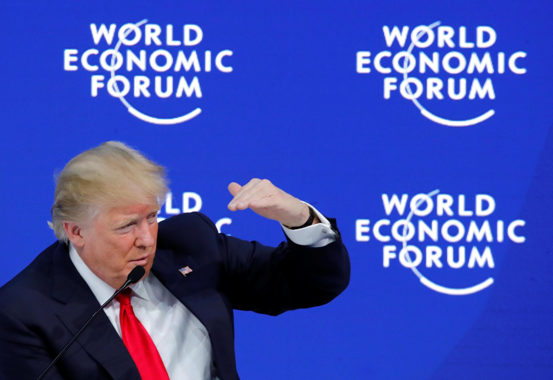Rais wa MarekaniDonald Trump ambaye alihudhuria mkutano wa DAVOS