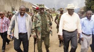 Viongozi wa kundi la M23 mjini Bunagana mashariki mwa DRCongo Septemba 8, 2013.