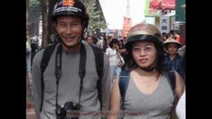 Blogger Điếu Cày và Tạ Phong Tần.