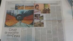 O jornal Le Monde dedica duas páginas a uma reportagem sobre a derrota dos índios brasileiros na batalha contra a construção de Belo Monte.