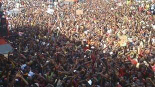 Manifestation à Conakry, le 18 février 2013.