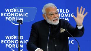 O Primeiro-Ministro indiano, Narendra Modi, foi quem abriu o Fórum.