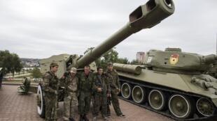 Lực lượng ly khai thân Nga tại Donetsk. Ảnh chụp ngày 08/09/2014.
