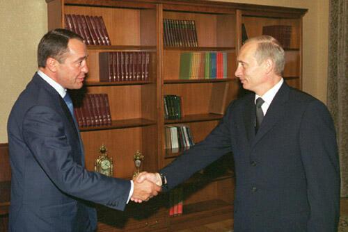 Михаил Лесин и Владимир Путин. Начало 2000-х