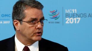 Le directeur général Roberto Azevedo lors de la 11e conférence ministérielle de l'Organisation Mondiale du Commerce (OMC)